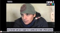 Jose Salvador reclama el pago de sueldos a la Municipalidad de Necochea.-